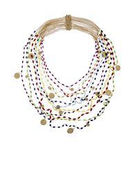 Rosantica By Michela Panero - Metallic Divina Gitani Agate Bead Necklace - Lyst