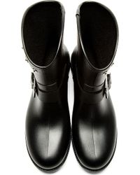 DIESEL - Black Gammy Riveted Rain Boots - Lyst
