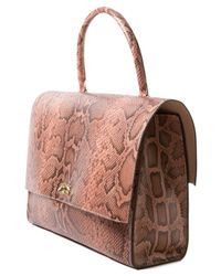 Givenchy - Brown Large Python Flap Bag - Lyst