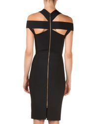 Roland Mouret | Black Swangrove Harness-strap Knit Sheath Dress | Lyst