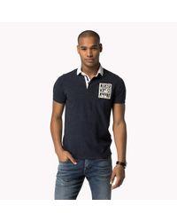 Tommy Hilfiger | Blue Cotton Slim Fit Polo for Men | Lyst