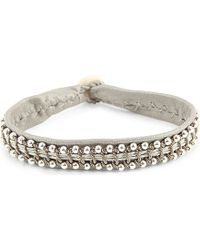 Maria Rudman | Metallic Leather And Pewter Bracelet | Lyst