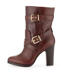 Pour La Victoire - Brown Roslin Bucklewrap Calfskin Boot Cognac - Lyst