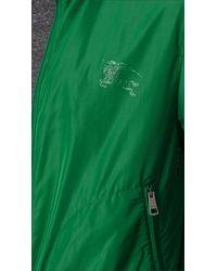 Burberry - Green Zip Front Packaway Blouson for Men - Lyst