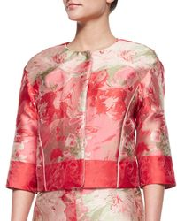 Lafayette 148 New York - Multicolor Amy Floral Boxy Jacket - Lyst