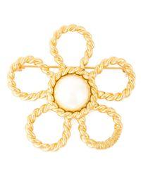 Moschino | Metallic 'daisy' Brooch | Lyst