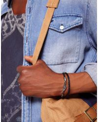 Vans - Black Plaited Leather Wing Bracelet Exclusive To Asos - Lyst