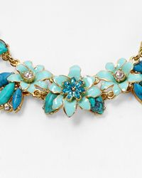 """kate spade new york - Blue Glossy Petals Necklace, 17"""" - Lyst"""