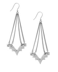 Lucky Brand | Metallic Geo Chandelier Drop Earrings, Silvertone | Lyst