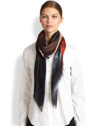Givenchy - Blue 'rottweiler' Wool and Silk Scarf - Lyst