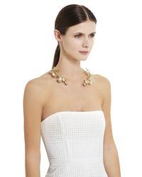 BCBGMAXAZRIA | Metallic Wildflower Collar Necklace | Lyst