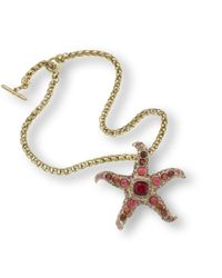 Kenneth Jay Lane | Red Ruby Starfish Necklace | Lyst