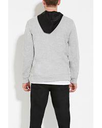 Forever 21   Black Scuba Knit-paneled Hoodie for Men   Lyst