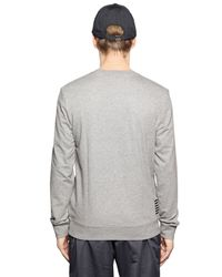 EA7 | Gray Logo Printed Cotton Sweatshirt for Men | Lyst