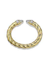 David Yurman | Metallic Waverly Cuff Bracelet With Diamonds In Gold | Lyst