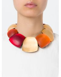 Monies - Multicolor Oversized Beads Necklace - Lyst