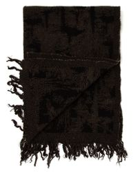 Faliero Sarti - Green Fringed Patterned Scarf for Men - Lyst