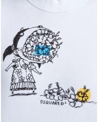 DSquared² - White Dean Fit Sweatshirt - Lyst