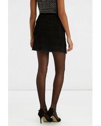 Oasis | Black Fringed Skirt | Lyst