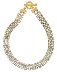 Lauren by Ralph Lauren - Metallic Signature Collection Gold-Tone Swarovski Crystal Linked Collar Necklace - Lyst