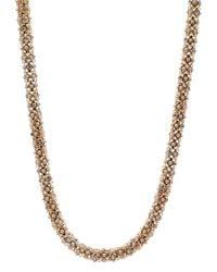 Anne Klein | Metallic Multi-row Ball-chain Collar Necklace | Lyst