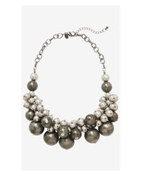 Express - Metallic Short Metal Bauble Necklace - Lyst