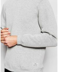 Jack & Jones | Gray Pique Sweatshirt for Men | Lyst
