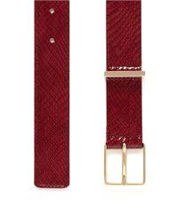 Maison Boinet - Red Snakeskin-effect Patent Leather Belt - Lyst