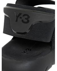 Y-3 - Black Qasa Neoprene Slip-On Sandals for Men - Lyst
