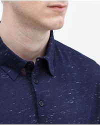 Zara | Blue Short Sleeve Polo Shirt for Men | Lyst