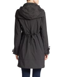 Cole Haan | Black Solid Zip Front Anorak Jacket | Lyst