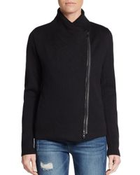 VINCE | Black Woolen Long Sleeve Sweater | Lyst