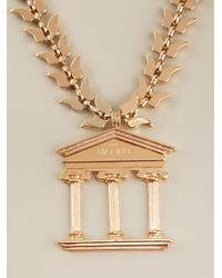 Malibu 1992 - Metallic 'apollo' Big Temple Opera Necklace - Lyst