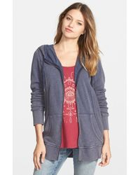 Volcom | Blue 'trapped Stone' Zip Hoodie | Lyst
