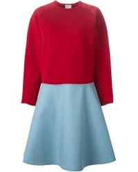 Kolor - Blue Oversized Two-tone Dress - Lyst