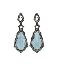 Arunashi | Blue Carved Aquamarine Earrings | Lyst