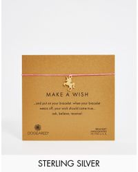 Dogeared | Pink Gold Plated Make A Wish Unicorn Friendship Bracelet | Lyst