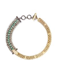 Iosselliani | Green Crystal Pavé Panther Necklace | Lyst