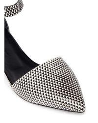 Proenza Schouler - Black Ankle Strap Geometic Leather Flats - Lyst