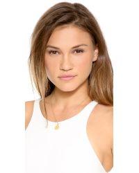 Kate Spade | Metallic Letter Pendant Necklace | Lyst