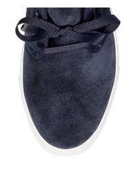Tory Burch - Blue Iggy Lace-up Sneaker - Lyst