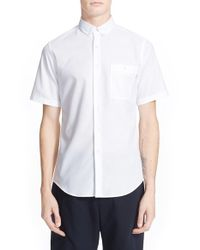Patrik Ervell - White 'aircell' Trim Fit Short Sleeve Mesh Shirt for Men - Lyst