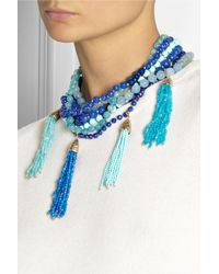 Rosantica - Blue Himalaya Golddipped Agate Necklace - Lyst