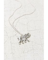 Urban Outfitters - Metallic Elephant Pendant Necklace - Lyst