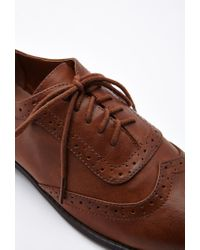 Forever 21 | Brown Faux Leather Brogues | Lyst