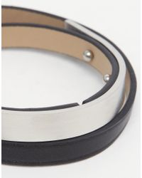 Seven London - Black Wraparound Metal Bar Bracelet for Men - Lyst
