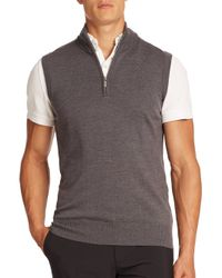 J.Lindeberg | Gray Edi Tour Merino Sweater Vest for Men | Lyst