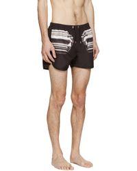Neil Barrett - Black Nylon Roman Swim Shorts for Men - Lyst