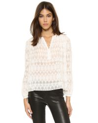 Rebecca Taylor | White Ice Cap Top | Lyst