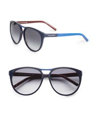 Tommy Hilfiger | Blue 59mm Shield Sunglasses | Lyst